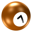 128x128px size png icon of Ball 7