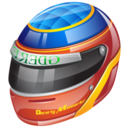 128x128px size png icon of formula 1 helmet