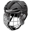 128x128px size png icon of ice hockey helmet