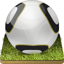 128x128px size png icon of Soccer ball grass