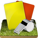 128x128px size png icon of Soccer referee grass