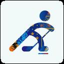 128x128px size png icon of sochi 2014 hockey