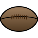 128x128px size png icon of Rugby