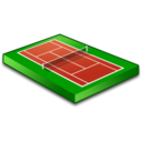 128x128px size png icon of Tennis field