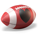 128x128px size png icon of Love Football