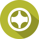 128x128px size png icon of wheel