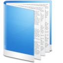 128x128px size png icon of Folder Blue Doc