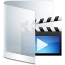 128x128px size png icon of Folder White Videos