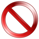 128x128px size png icon of Sign Delete