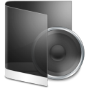 128x128px size png icon of folder black music