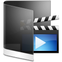 128x128px size png icon of folder black videos
