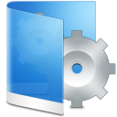 128x128px size png icon of folder blue system