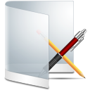 128x128px size png icon of folder white apps