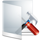 128x128px size png icon of folder white configure