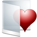 128x128px size png icon of folder white favorite