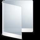 128x128px size png icon of folder white folder