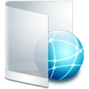 128x128px size png icon of folder white network