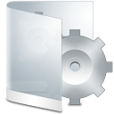 128x128px size png icon of folder white system