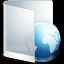 128x128px size png icon of folder white web