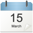 128x128px size png icon of misc calender