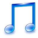 128x128px size png icon of sign music