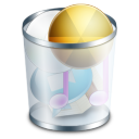 128x128px size png icon of system recyclebin full