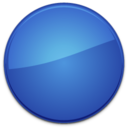 128x128px size png icon of Blank Badge Blue
