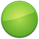 128x128px size png icon of Blank Badge Green