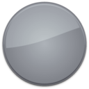 128x128px size png icon of Blank Badge Grey