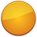128x128px size png icon of Blank Badge Orange