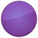 128x128px size png icon of Blank Badge Purple