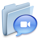 128x128px size png icon of Chats Folder Badged