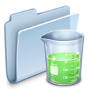 128x128px size png icon of Experiments Folder Badged