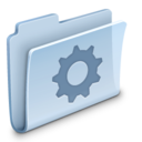 128x128px size png icon of Gear Folder