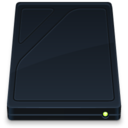 128x128px size png icon of Hard Drive Onyx