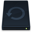 Time Machine Drive Onyx Icon