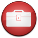 128x128px size png icon of Toolbox Badge
