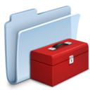 128x128px size png icon of Toolbox Folder Badged