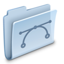 128x128px size png icon of Vectors Folder