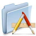 128x128px size png icon of Applications Folder Badged