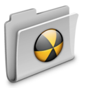 128x128px size png icon of Burn Folder 2
