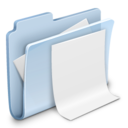 128x128px size png icon of Documents Folder Badged