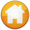 128x128px size png icon of Home badge