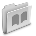 128x128px size png icon of Library Folder Grey