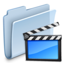128x128px size png icon of Movies Folder Badged