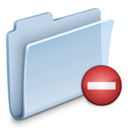 128x128px size png icon of Private Folder Badged