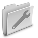 128x128px size png icon of Utilities Folder Grey