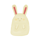 128x128px size png icon of Bunny Happy