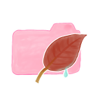 128x128px size png icon of Folder Candy Leaf