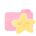 128x128px size png icon of Folder Candy Starry Sad